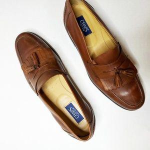 Vintage Men's Chaps Kiltie Tassel Loafer Shoes 10
